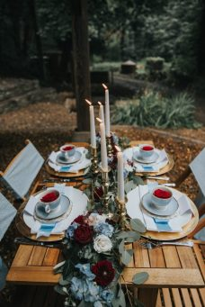 Alice shoot table display- styling by Elizabeth Weddings