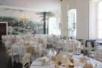 Peach and white, candelabras at KIngs Weston House- Elizabeth Weddings