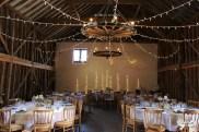 Over Barn styling, wall fairy lights- Elizabeth Weddings