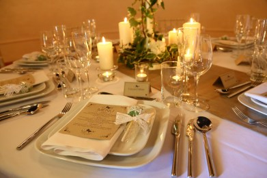 Walton Castle shoot table display- styling Elizabeth Weddings