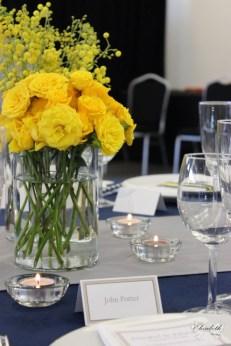 Contemporary yellow floral display- Elizabeth Weddings