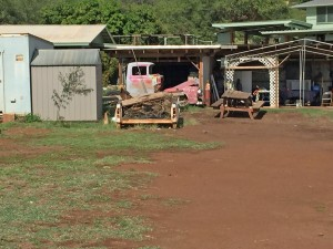 Vintage truck Neil Young would like on Kamehameha Highway in Molokai