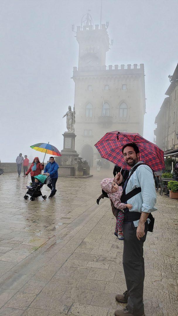 Em San Marino com chuva