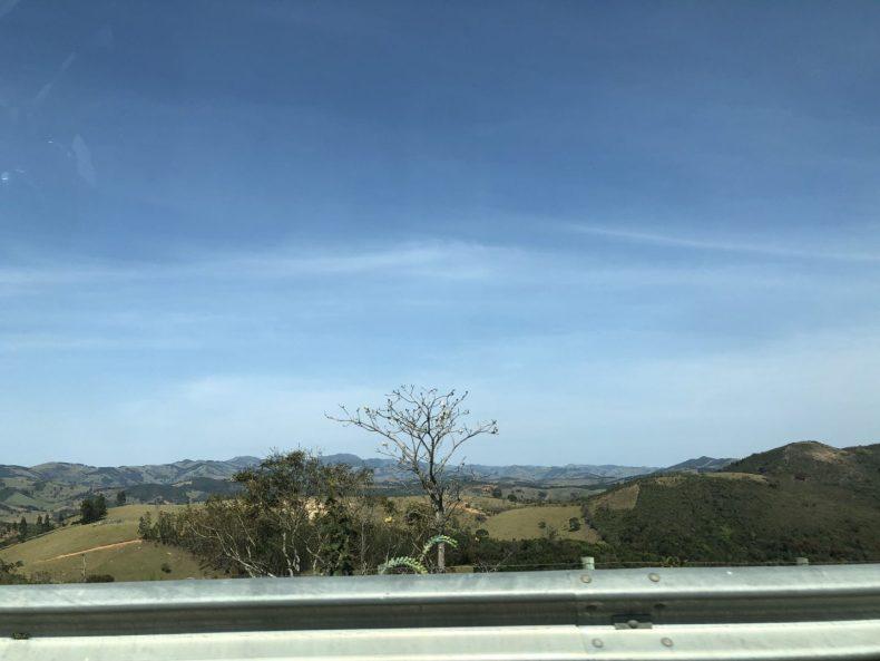 Vista da estrada.