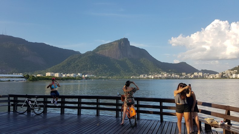 Final de semana na Lagoa Rodrigo de Freitas, Rio de Janeiro