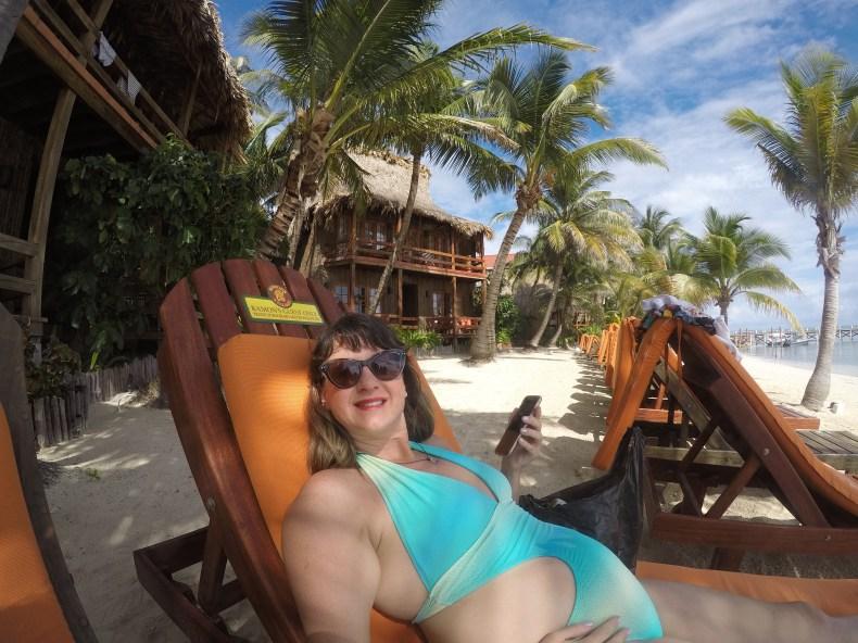 Relaxando no Ramon's Village Resort. Réveillon em Belize. Babymoon