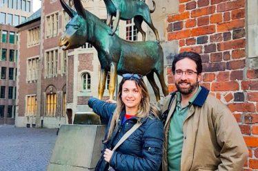 estátua dos músicos de Bremen