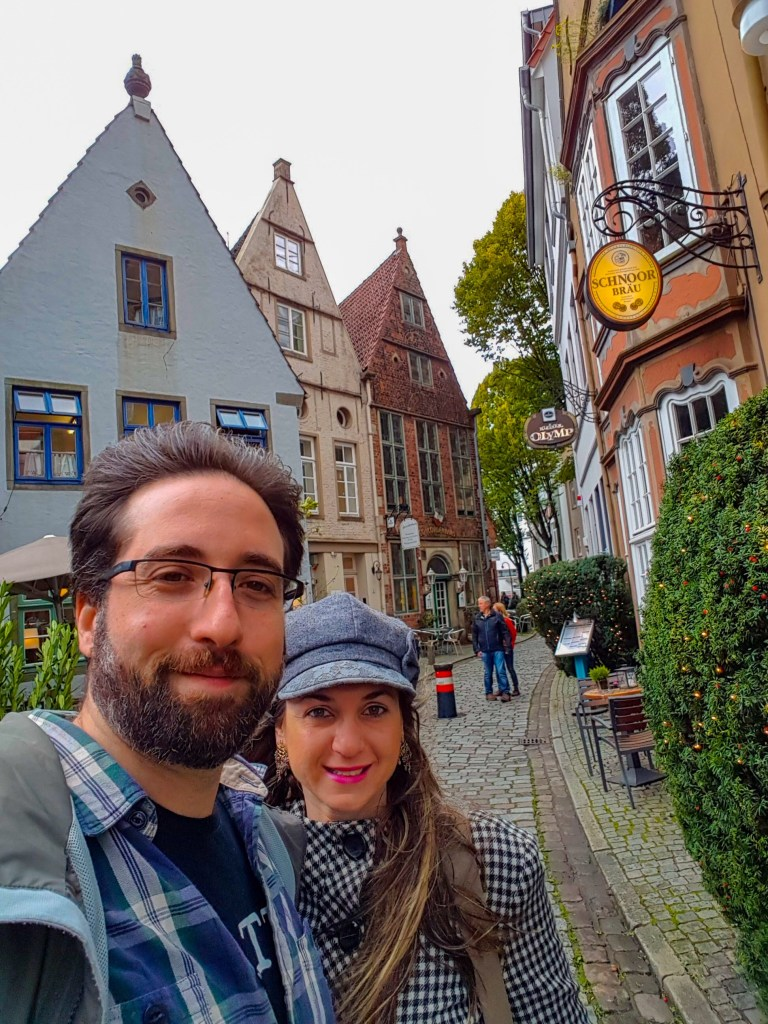 Nós 2 pelo centrinho histórico de Bremen