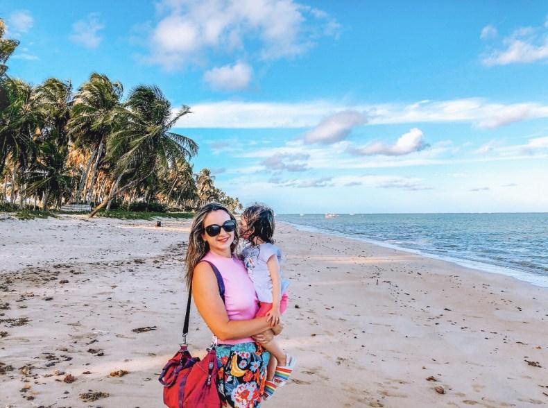 Eu e minha filha na praia do patacho