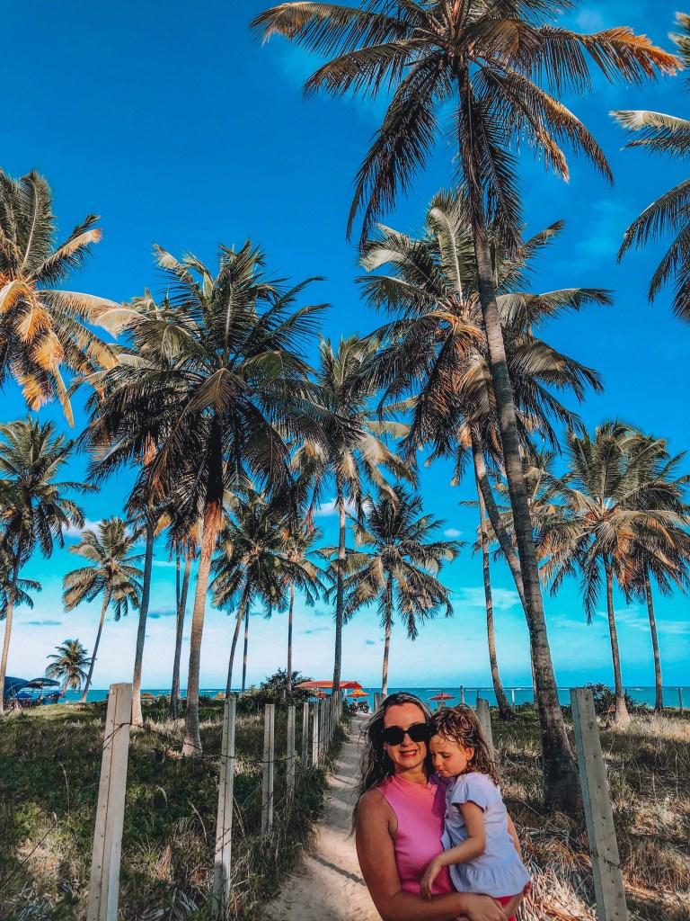 coqueiros na praia do patacho