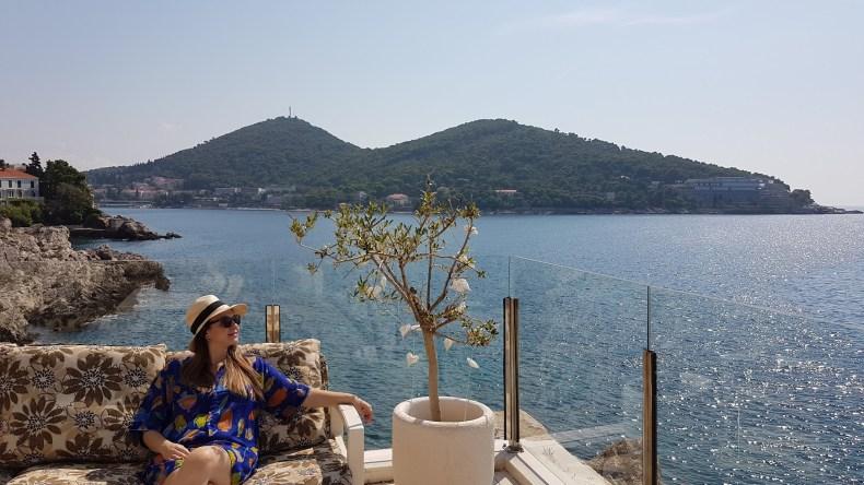 Vista para o Mediterrâneo na Croácia