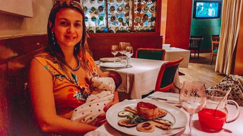 Dá pra ter romantismo com uma bebê de 2 meses no braço?  Satyricon: culinária ítalo-mediterrânea (restaurantes românticos RJ)
