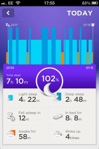 JawboneScreenshot - Sleep Monitor