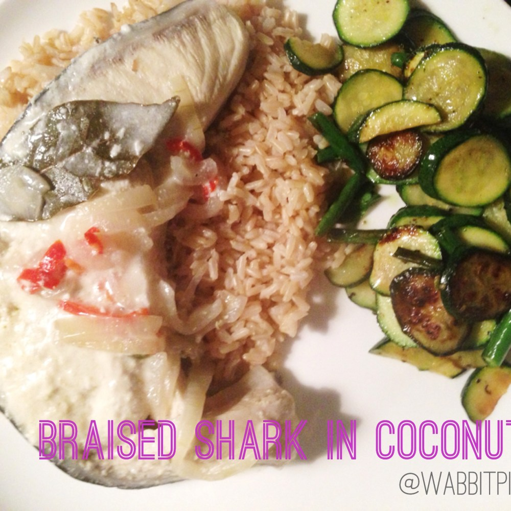 Braised Shark in Coconut: A Recipe