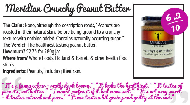 Meridian Crunchy Peanut Butter Review