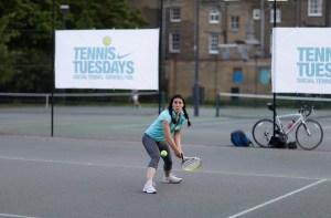 Eliza Flynn with Tennis Tuesdays