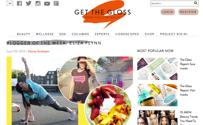 Eliza Flynn Press - Get the Gloss Blogger of The Week
