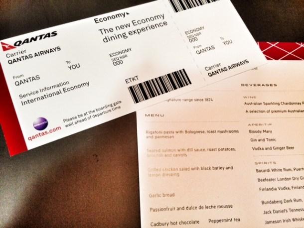 Qantas New Economy Dining
