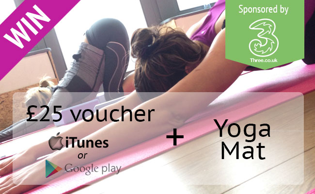 WIN £25 in vouchers and a yoga mat