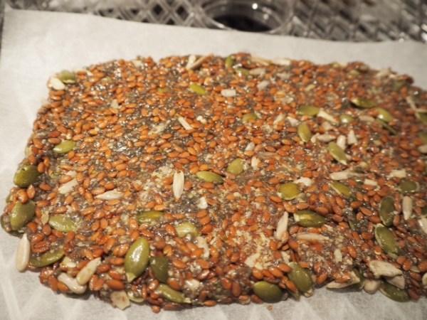 Making flaxseed crackers