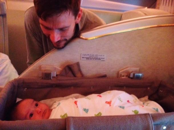flying longhaul with a newborn
