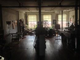 An artist's studio.