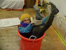 Emme in a bucket...