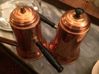 To begin our study on the richly fascinating subject, we bought these darling copper kettles.