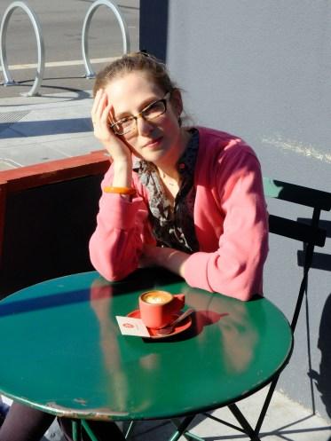 5. A break for a macchiato at Linea Coffee. Mission, SF.