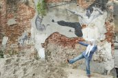 ~Street art, Penang...kungfu..
