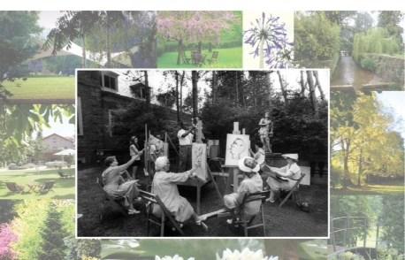 V Encuentro de pintura al aire libre; Pintando en el Jardín