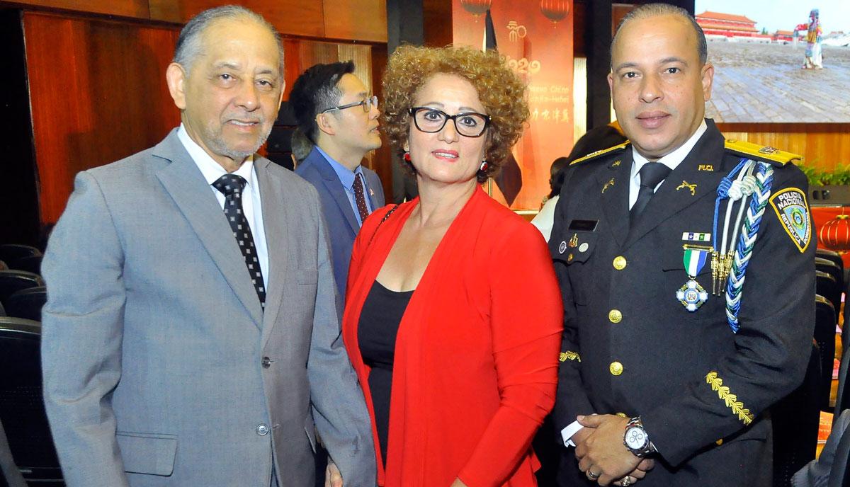 Luis Eduardo Lora Huchi Betty Echavarria de Lora y General PN Javier Torres Dotel