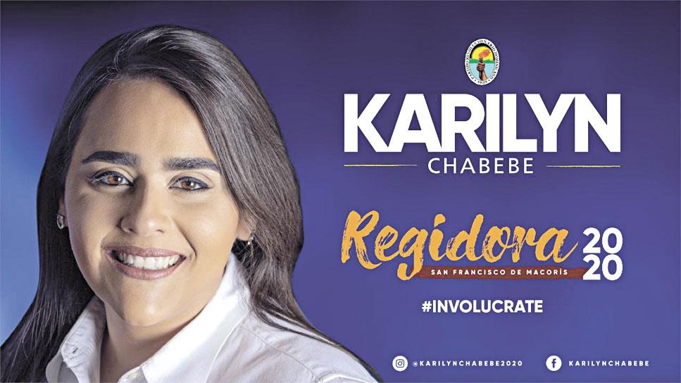 La candidatura a regidora de Karilyn Chabebe Lantigua por la alianza PLD-PRD