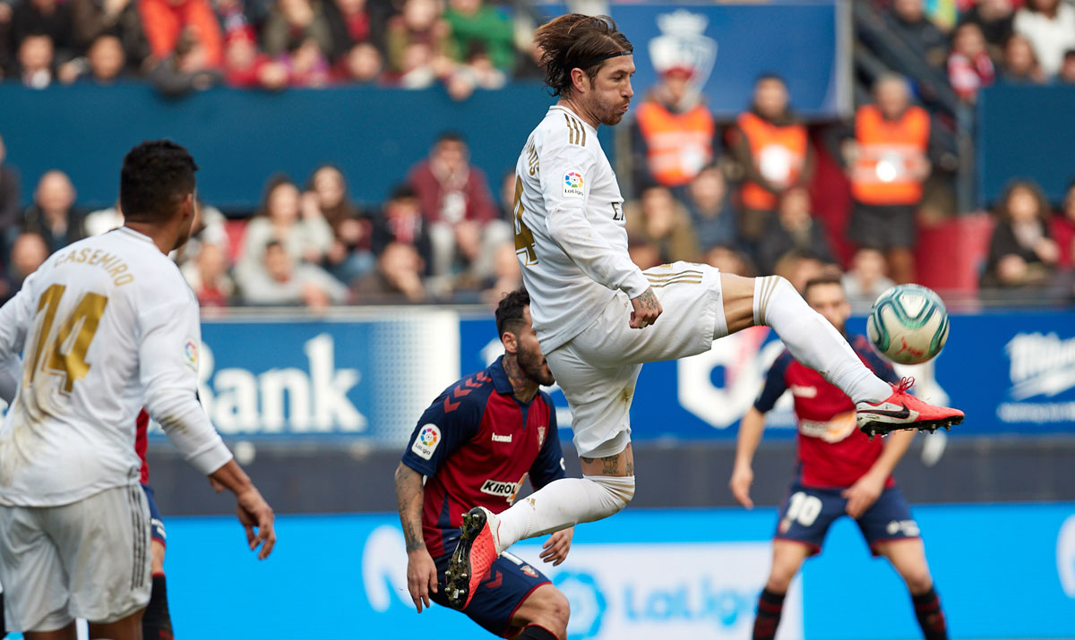 Sergio Ramos played his 440th LaLiga game for Real Madrid, moving him into fifth in the club's all-time appearance table