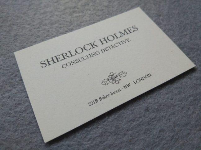 Tarjeta Sherlock Holmes