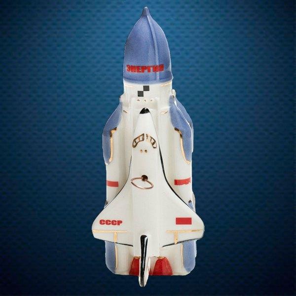 Керамическая елочная игрушка из серии Космос Фарфоровая Мануфактура Энергия-Буран