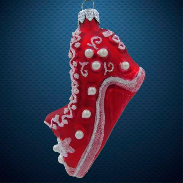 Стеклянная елочная игрушка Туфелька 1