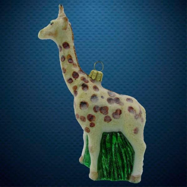 Стеклянная елочная игрушка Жираф 1