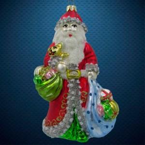 Елочная игрушка Санта с тремя мешками, Irena Co