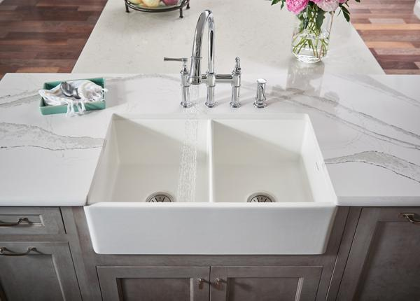 Elkay Fine Fireclay Kitchen Sinks In White Apron Farm