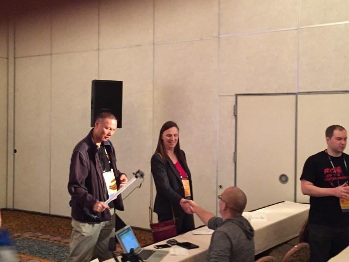 John Chow, Elke Clarke and Zac Johnson at Affiliate Marketing Summit West 2015