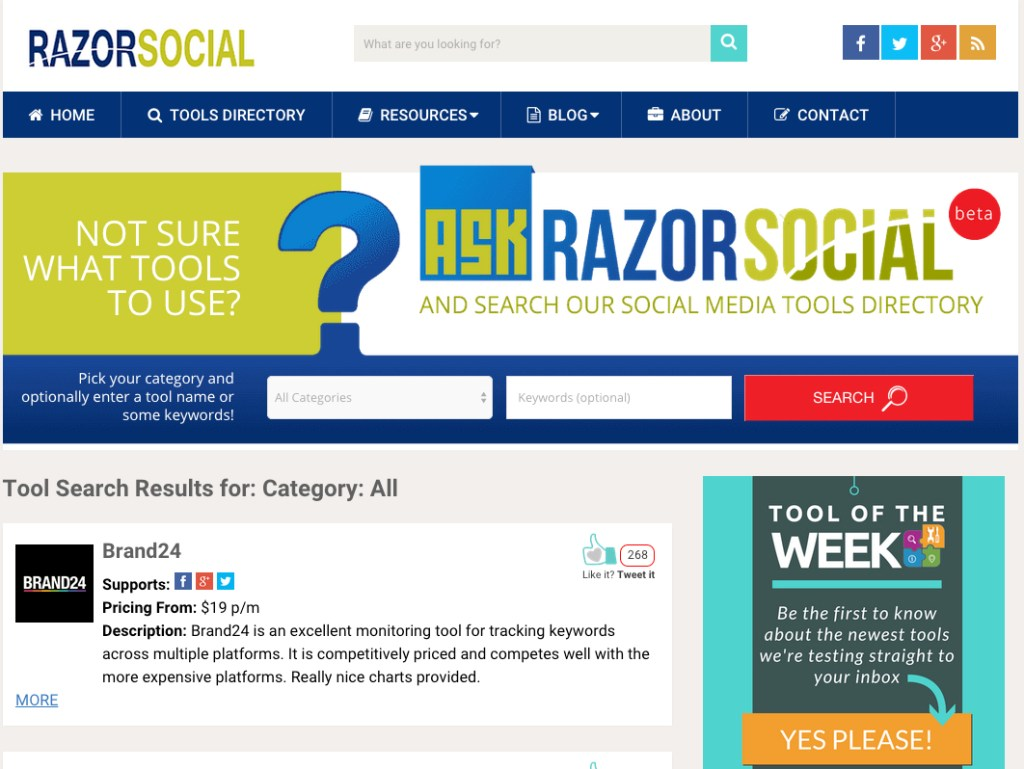 Razor Social - Not Sure What Tools to Use for Social Media?