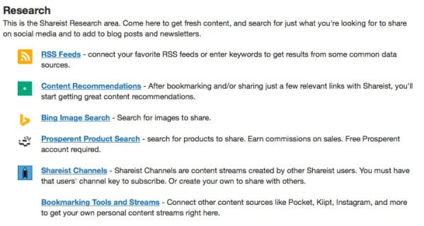 Getting content from Shareist