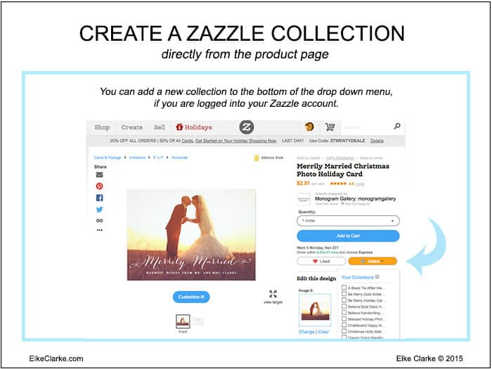 Create a Zazzle Collection Directly from a Zazzle Product Page