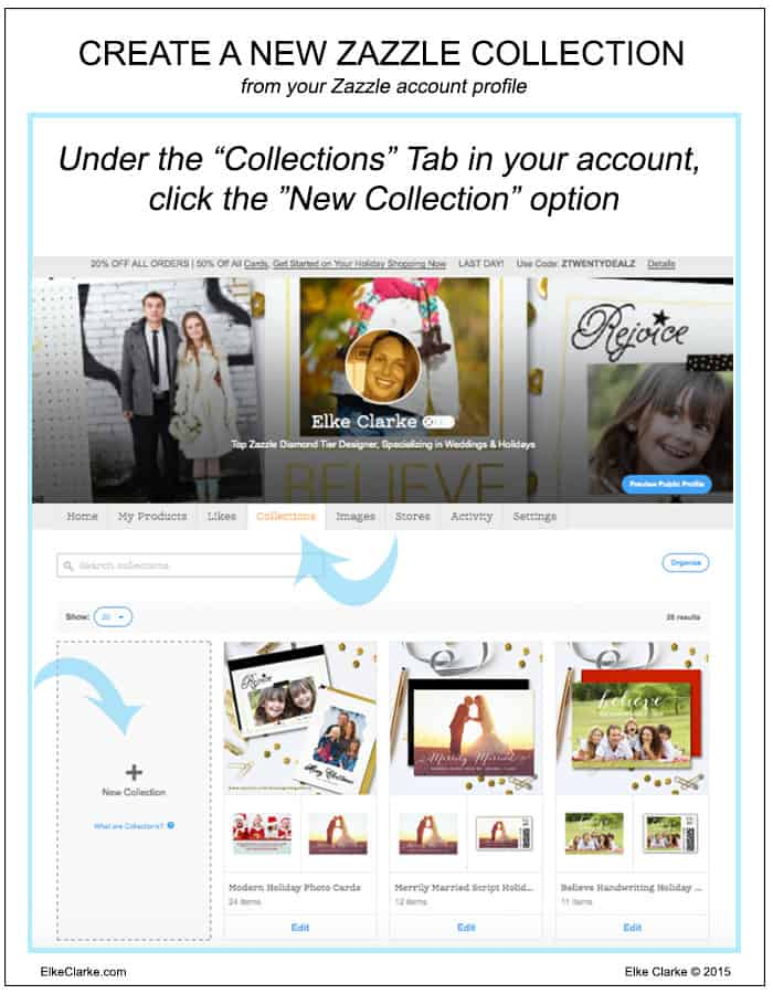 Create a Zazzle Collection from your Zazzle Account Page
