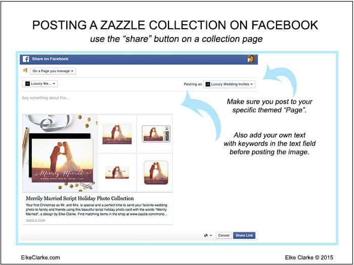 How to Post a Zazzle Collection to a FaceBook Page