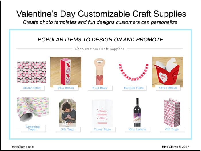 Valentines Day Customizable Craft Supplies You Can Sell Through Your Zazzle Store