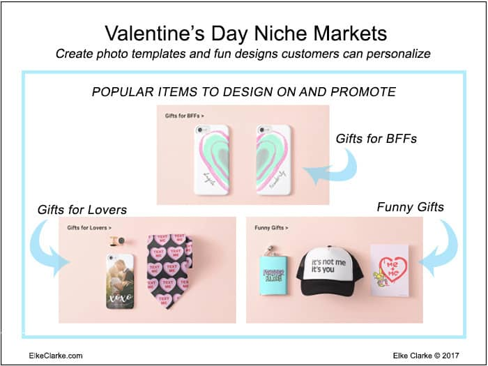 Valentine's Day Niches You Can Design for on Zazzle to Make Money Online