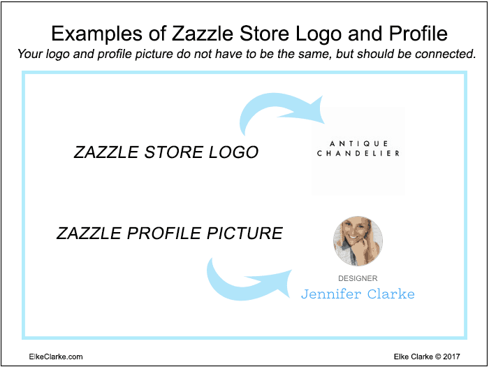 Examples of Zazzle Store Logo and Profile