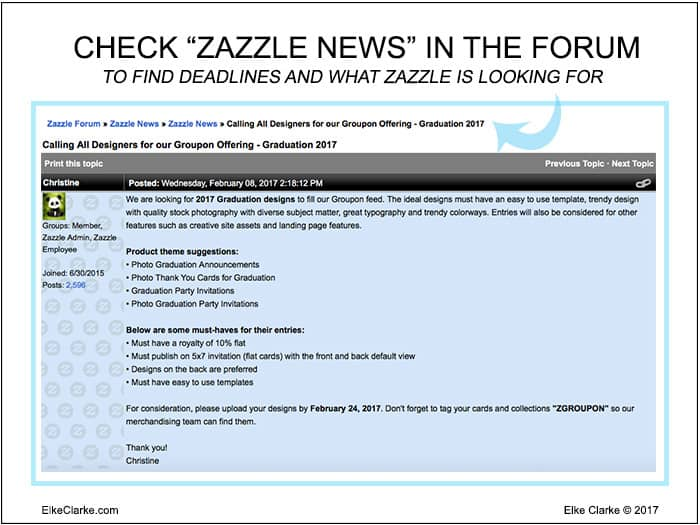 Check the Zazzle Forum in the Zazzle News Section For Groupon Deadlines and Requirements
